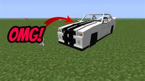 How To Make A Working Car In Minecraft Pe Working 2018