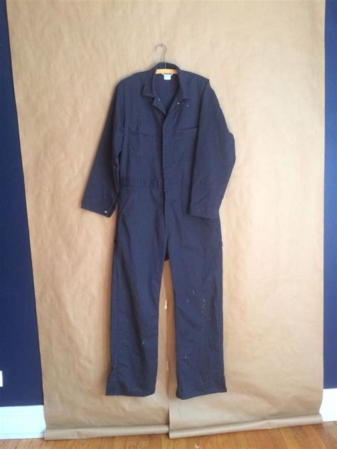 vintage  mechanics coverall uniform janitor outfit