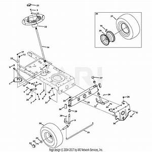 Mtd 13ao785t055  2013  Parts Diagram For Front End Steering