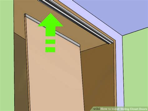 How To Fix Closet Sliding Door by How To Install Sliding Closet Doors 13 Steps With Pictures
