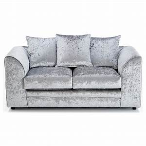 michigan velvet 2 seater sofa silver 2 seater sofas With silver velvet sectional sofa