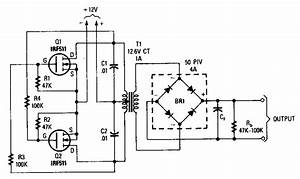 power mosfet inverter circuit diagram world With dc to ac inverter is based on the popular 555 a 555 oscillator circuit