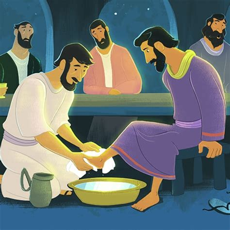 jesus washed  disciples feet teaching picture