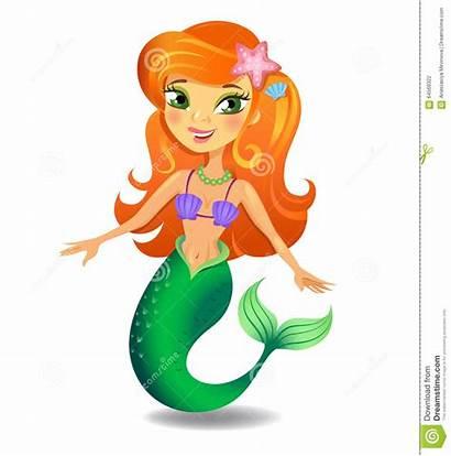 Mermaid Sirena Cartoon Clipart Fumetto Meerjungfrau Bello