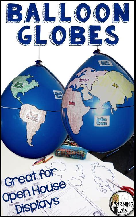 geography balloon globes world maps social studies