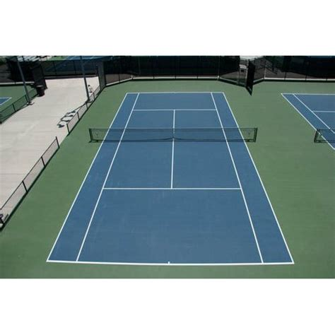 synthetic outdoor tennis court flooring service thickness   mm warranty  year rs