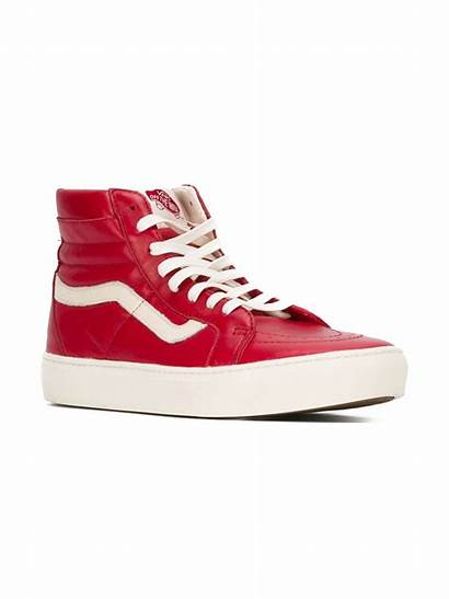 Sneakers Vans Leather Quilted Hi Shoes Lyst