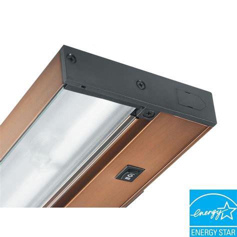 juno pro series led under cabinet lighting juno pro series 22 in brushed bronze fluorescent under