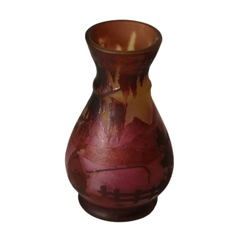 vaso galle vaso in stile gall 232 oggettistica antiquariato