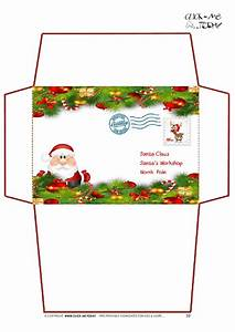 printable letter to santa claus envelope template xmas With christmas letter envelopes
