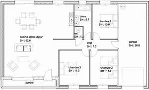 plan de maison 4 chambres awesome plan de maison de luxe With marvelous plan maison r 1 100m2 1 free plan maison 100m2 a etage with plan maison 100m2 a etage