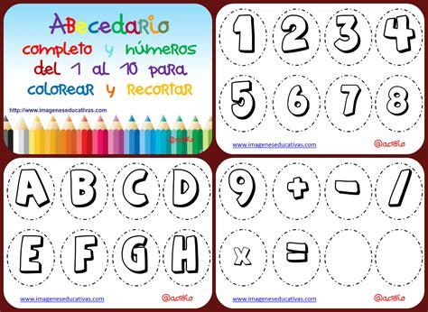 Abecedario para colorear Collage Imagenes Educativas