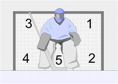 Goalie Holes Hockey Hole Five Goal Ice