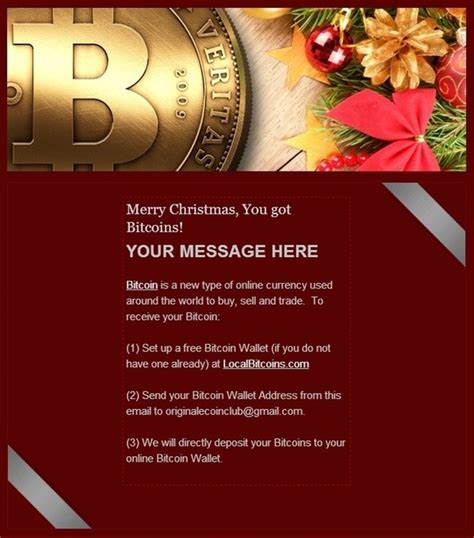Have you left your holiday shopping to the last minute? What would be the best way to give bitcoins as christmas ...