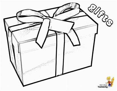 Coloring Christmas Pages Box Gift Colouring Boys