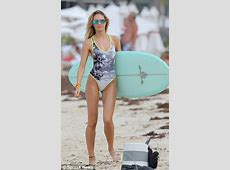 Candice Swanepoel and Behati Prinsloo show off pert