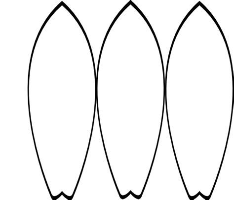surfboard template 3 white surfboards clip at clker vector clip royalty free domain