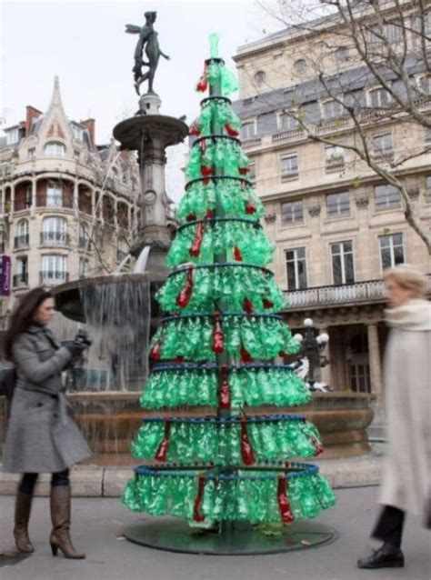 plastic bottle tree paris as above upcycled christmas