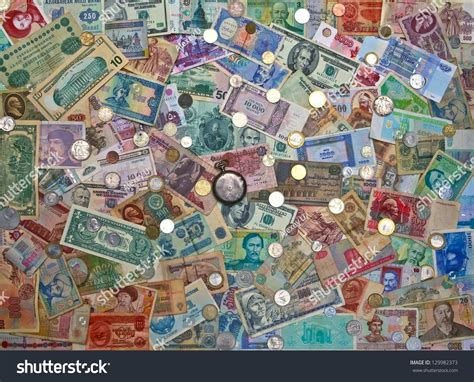 colorful money colorful world paper money background stock photo