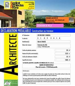 Panneau De Permis De Construire : panneau de chantier architecte sar69 syndicat des ~ Dailycaller-alerts.com Idées de Décoration