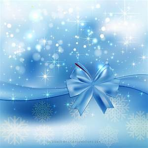 Light, Blue, Christmas, Bow, Background, Template