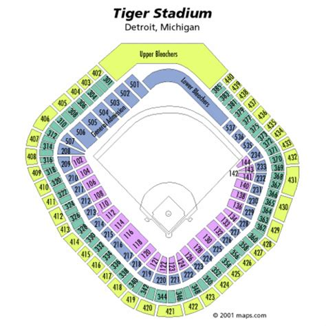 tiger stadium seating chart