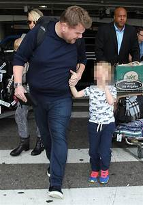 James Corden and family land back in Los Angeles after ...