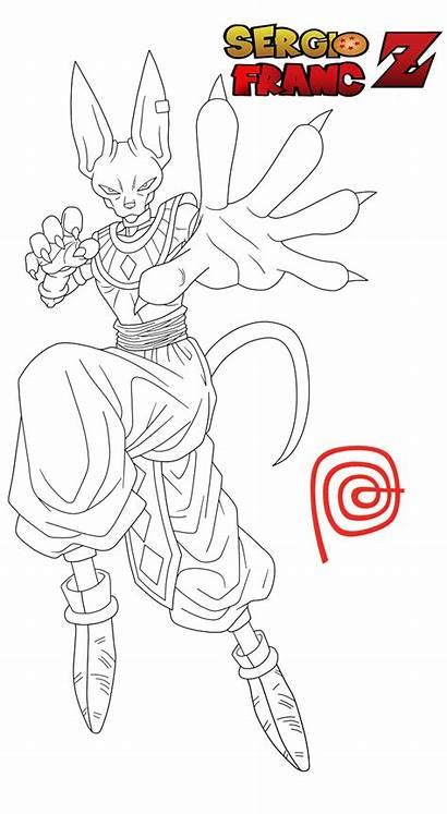 Dragon Ball Deviantart Drawing Coloring Line Goku