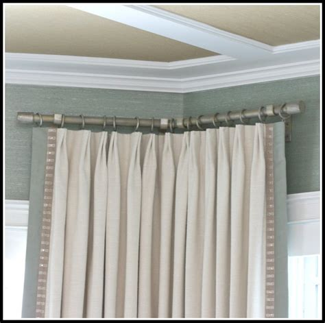 corner window curtain rod l shaped curtain rod for corner window curtains home