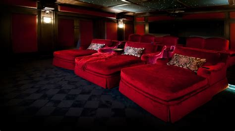 chaise cinema upholstered chaise lounge luxury home theater design home