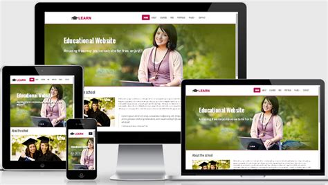 free html5 responsive templates learn educational free responsive web template webthemez