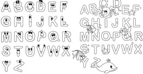 alfabeto da colorare da stampare