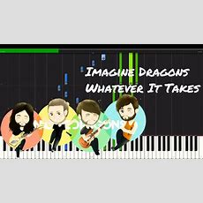 Imagine Dragons  Whatever It Takes Piano Tutorial Youtube