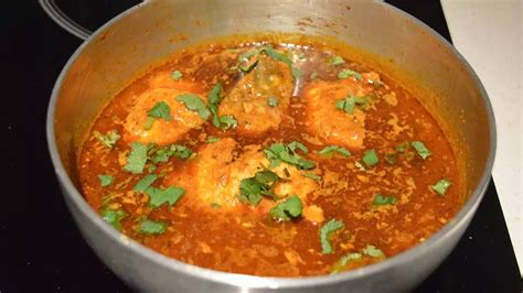 salmon fish curry spicy fish curry recipe youtube