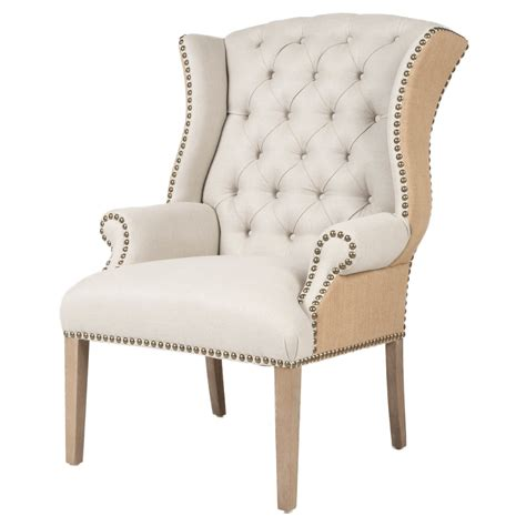 quinn tufted arm chair by orient express furniture set of
