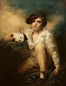 Boy And Rabbit Painting by Sir Henry Raeburn
