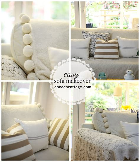 how to make a sofa cover without sewing no sew sofa makeover how to cover a sofa with fabric