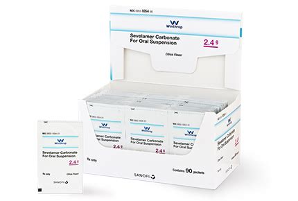 Generic Renvela®, Sevelamer Carbonate Powder Packets 2.4 g ...