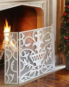 white urn fireplace screen