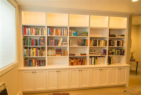 painted bookcase  remote controlled led lighting