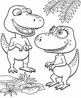 Dinosaur Coloring Pages Train Cartoon Tv sketch template