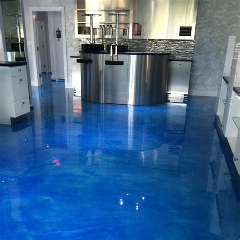 concrete metallic floor epoxy coating system  clean