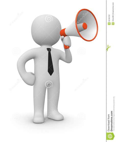 man  loudspeaker stock photography image