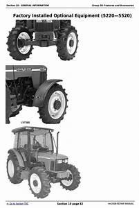John Deere Tractors 5220  5320  5420  And 5520 Service