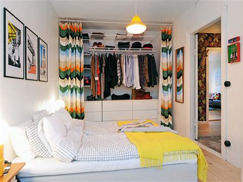 Swedish Bedroom, Open Bedroom Closet Ideas Organizing A
