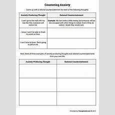 Anxiety Worksheets Homeschooldressagecom
