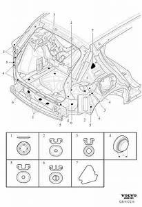 Volvo Xc40 Plug  Body  Seals  Compartment