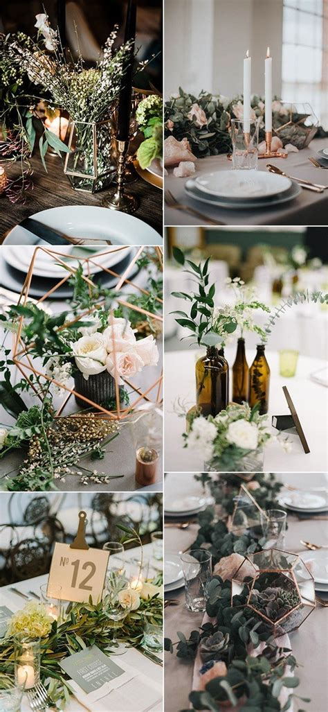 trending  industrial wedding centerpiece ideas