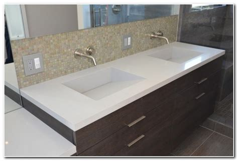 Countertops With Built In Sink Bathroom-sink And Faucet