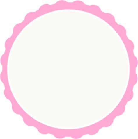 Red ivory Scallop Circle Frame Clip Art at Clker com